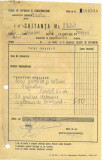 518 DOCUMENT VECHI -CHITANTA TAXA ELIBERARE DIPLOMA DE BACALAUREAT 8220 - 1946