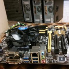 Kit placa de baza Asus + procesor i3-4130 3, 4 ghz, Pentru INTEL, LGA 1150, DDR 3, Contine procesor, MicroATX