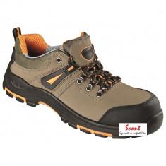 Pantofi protectie lucru piele nubuk bombeu compozit lamela antiperforatie kevlar