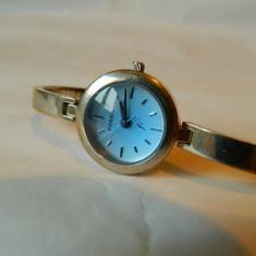 Ceas de dama Fossil cadran albastru, cod f18 - Ceas dama Fossil, Casual, Quartz, Inox, Piele, Analog