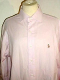 Camasa roz mov POLO by RALPH  LAUREN 15 ½ M, Maneca lunga, Polo By Ralph Lauren