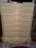 Saptamanal/comoda cu sertare stil baroc venetian/ludovic xv/rococo/vintage/antic, Sufragerii si mobilier salon, 1900 - 1949