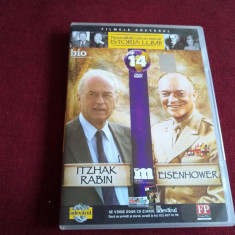DVD PERSONALITATI CARE AU MARCAT ISTORIA LUMII - ITZHAK RABIN / EISENHOWER - Film documentare, Romana