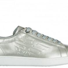Sneakers Armani Emporio - Adidasi dama, Culoare: Gri, Marime: 40