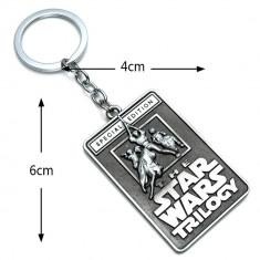 Breloc  tematica  film Star wars metalic + ambalaj cadou