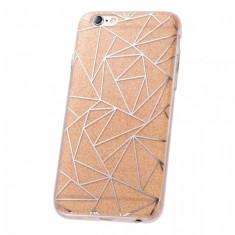 Husa plastic Huawei P8lite (2015) Fashion Glitter Geometric Aurie - Husa Telefon