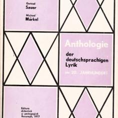 Anthologie der deutschsprachigen Lyrik - Curs Limba Germana didactica si pedagogica