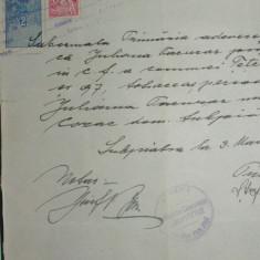 D9 TIMBRE FISCALE FERDINAND- PE CERTIFICAT COMUNAL 1929 - Timbre Romania, Stampilat
