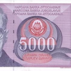 Bancnota Iugoslavia 5.000 Dinari 1991 - P111 UNC