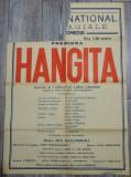 Hangita/ afis interbelic Teatrul National I.L. Caragiale, premiera