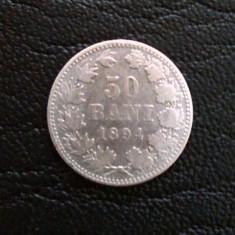 Romania - 50 Bani 1894, Argint Carol I Rege Al Romaniei - Moneda Romania