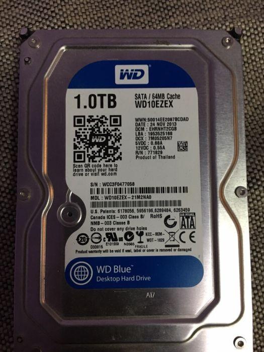 Hard-disk PC 1 TB Western Digital WD Blue Sata3 7200 rpm 64MB 100% health P115