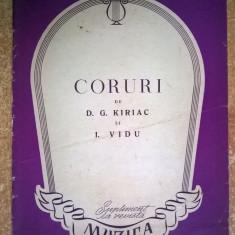 D. G. Kiriac, I. Vidu - Coruri - Carte Arta muzicala