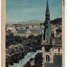 ORASUL STALIN VEDEREPANORAMICA MARCA FIXA 40 BANI - Carte Postala Transilvania dupa 1918, Circulata, Printata