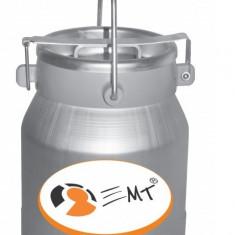 Bidon transport lapte cu capac - Aluminiu - 20 litri