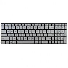 Tastatura laptop Asus N750J iluminata US Argintie