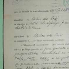 D5 TIMBRE FISCALE FERDINAND-EFIGIA IN CERC PE DOCUMENT 1929 - Timbre Romania, Stampilat
