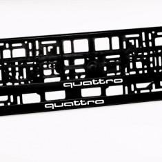 Suporti numar inmatriculare QUATTRO (set 2 buc) - Suport numar Auto