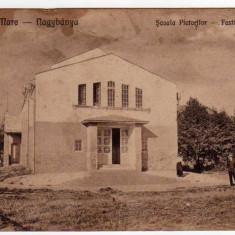 BAIA MARE SCOALA PICTORILOR - Carte Postala Maramures dupa 1918, Circulata, Printata