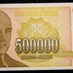 IUGOSLAVIA 500000 500.000 DINARA 1994 aUNC / UNC  **