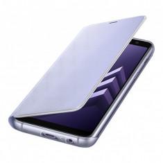 Husa Samsung Galaxy A8 (2018) A530 EF-FA530PVEGWW Neon Flip Bleu Blister Originala - Husa Tableta