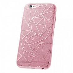 Husa plastic Huawei P8lite (2015) Fashion Glitter Geometric Roz - Husa Telefon
