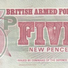 Bancnota Anglia (British Armed Forces) 5 Pence (1972) - PM47 UNC ( Seria 6 )