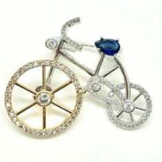 Brosa Bicicleta by Borealy - Brosa placate cu aur