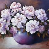Tablou pictura - flori, Ulei, Miniatural