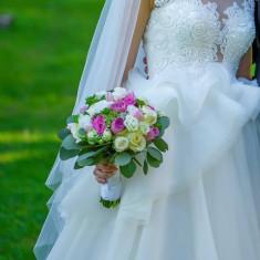 Rochie de mireasa Natalia Vasiliev + voal + capa, Rochii de mireasa A-line