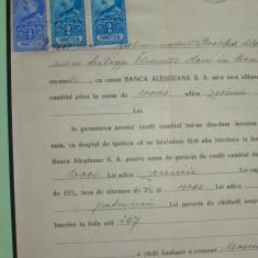D4 TIMBRE FISCALE FERDINAND-EFIGIA IN CERC PE DOCUMENT 1929 - Timbre Romania, Stampilat
