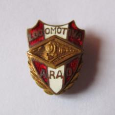 Insigna (veche) fotbal - LOCOMOTIVA ARAD - Insigna fotbal