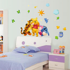 STICKER perete personaje Winnie the Pooh DESENE ANIMATE decorativ camera copii