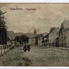 BAIA MARE STRADA CU CARUTA LIBRARIA KOVACS - Carte Postala Maramures dupa 1918, Necirculata, Printata