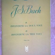 J. S. Bach - 15 inventiuni la doua voci 15 inventiuni la trei voci Piano solo