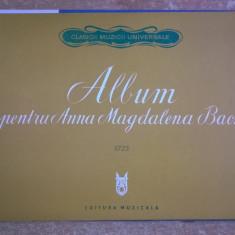 Album pentru Anna Magdalena Bach 1725 - Carte Arta muzicala