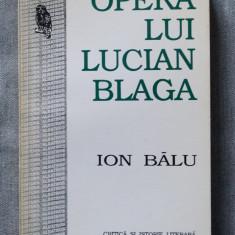 Ion Bălu - Opera lui Lucian Blaga