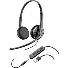 Casti Stereo Call-Center Plantronics Blackwire 325.1-M Jack 3.5 mm Black