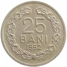 Y376 ROMANIA 25 BANI 1952 aUNC - Moneda Romania, Cupru-Nichel