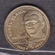 ROMANIA 2010 - MONEDA 50 BANI AUREL VLAICU - Moneda Romania