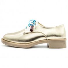 Pantofi casual pentru femei, Cod:033-37 Gold Shine (Culoare: Auriu, Marime Incaltaminte: 40) - Pantof dama UCU Dima