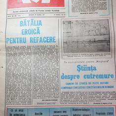 ziarul magazin 19 martie 1977-articole si fotografii de la cutremur