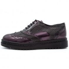 Incaltaminte casual dama, Cod:480 Negru / Mov (Culoare: Mov, Marime Incaltaminte: 40) - Pantof dama UCU Dima