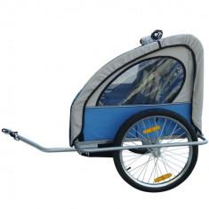 Remorca de bicicleta pentru 1-2 copii, marca VidaXL