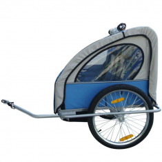 Remorca de bicicleta pentru 1-2 copii, marca VidaXL - Remorca bicicleta