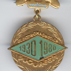 TELECOMUNICATII - TRANSMISIUNI - ELECTROMAGNETICA 1980 Insigna