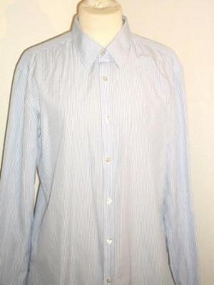 Camasa (barbati) bleu cu dungi HUGO BOSS 40/15 3/4 foto