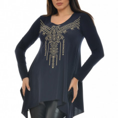Bluza dama brodata, Dress To Impress, cod BL05N, Marime: S, M, L, XL, Culoare: Negru