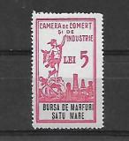 Timbru fiscal-bursa de marfuri 5 lei -Satu Mare-239, Nestampilat