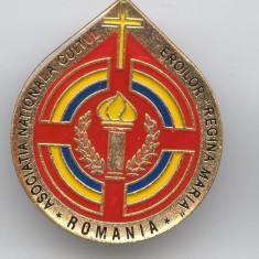 Asociatia NatIonala  CULTUL EROILOR - REGINA MARIA - SUPERBA Insigna MILITARA